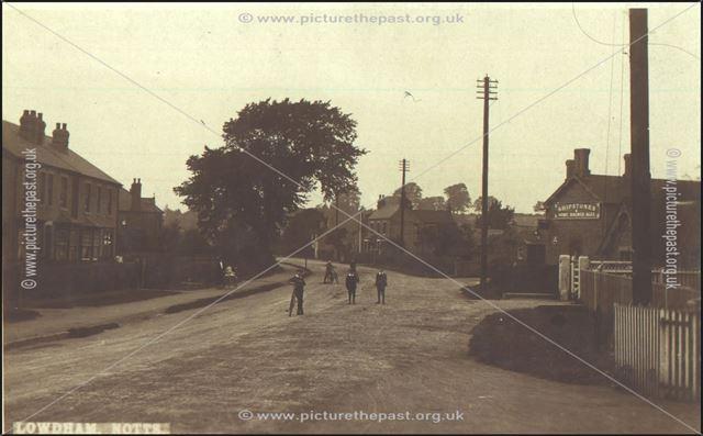 Station Road, Lowdham, c 1900