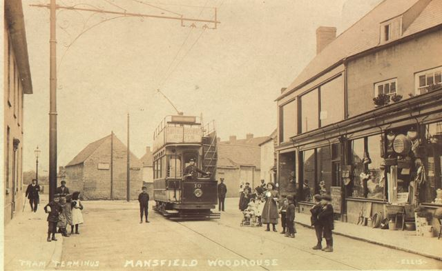 Tram Terminus, High Street, Mansfield Woodhouse, c 1905-1910s