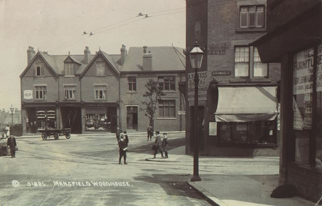 Priory Square, Mansfield Woodhouse, c 1900