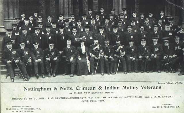 Nottingham and Notts. Crimean and Indian Mutiny Veterans' Association, Old Market Square, Nottingham