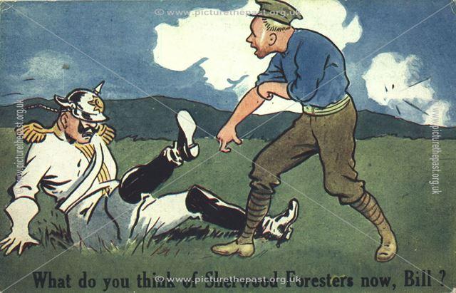 Sherwood Foresters, Nottingham, 1914-1918