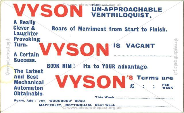Vyson - the un-approachable ventriloquist