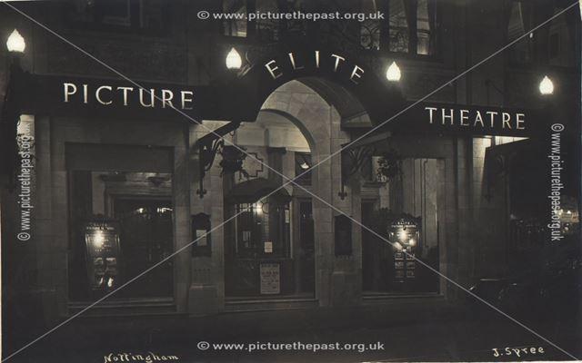 Elite Picture Theatre, Parliment Street, Nottingham, 1920 ?