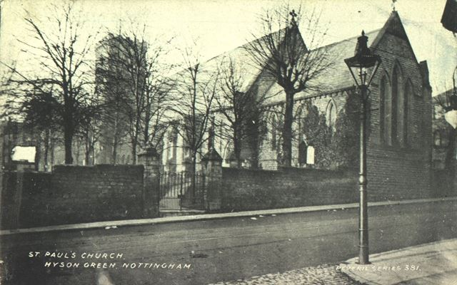 St. Paul's Church, Radford Road, Hyson Green, Nottingham, c 1905