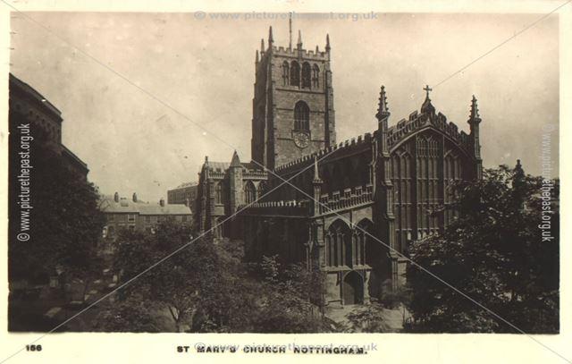 St. Mary's Church, High Pavement, Nottingham, c 1900