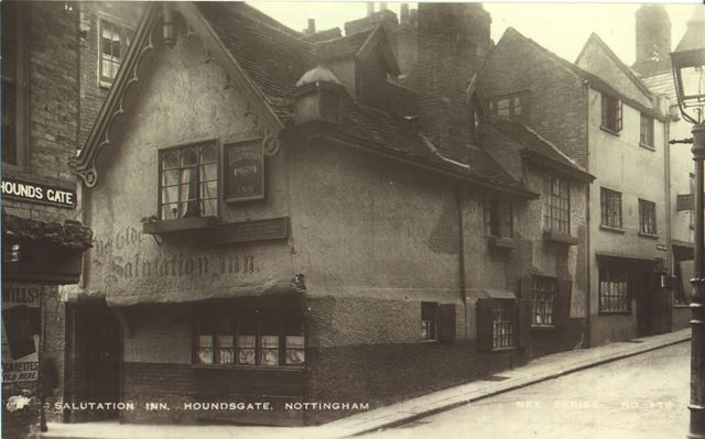 The 'Salutation Inn', Hounds Gate, Nottingham, c 1920?
