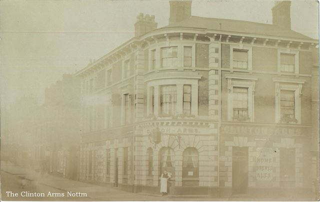 The 'Clinton Arms', Shakespeare Street?, Nottingham, c 1900