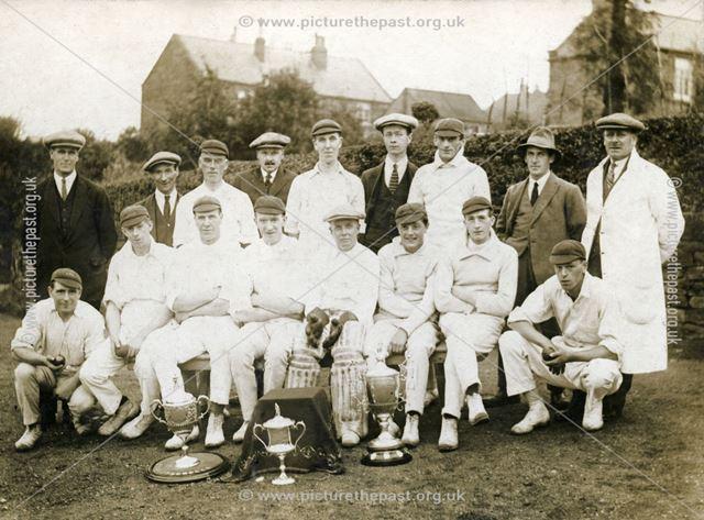 Coal Aston Cricket Club, Chequers Inn, Coal Aston, 1924