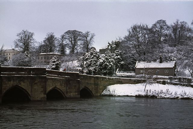 Bakewell Bridge with Snow, Bridge Street, Bakewell, 1979