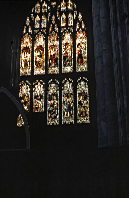 Stained Glass Window in St. Mary's Church, Church Lane, Tickhill, c 1970s