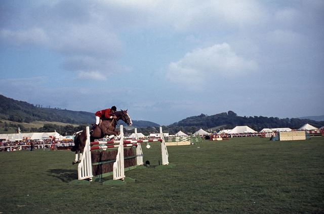 Horse Jumping, Bakewell Show, The Showground, Bakewell, 1979