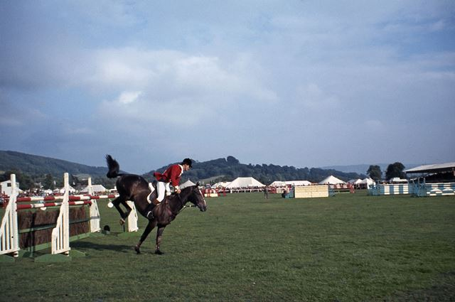 Horse Jumping, Bakewell Show, The Showground, Bakewell, 1971