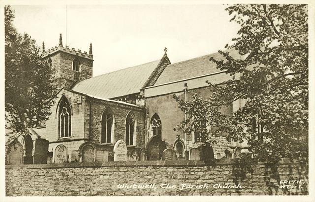 St Lawrence's Church, High Street, Whitwell, c 1900