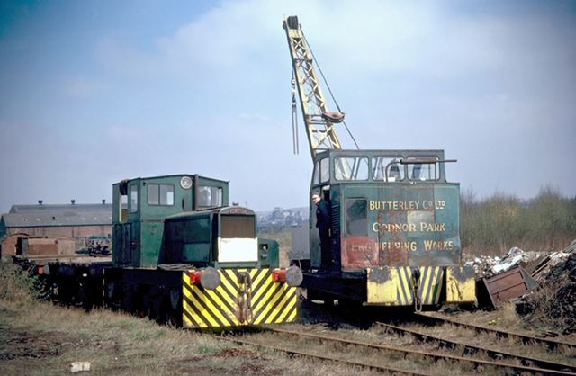 Small Planet Shunter with Crane, Codnor Park Works, Codnor, 1974