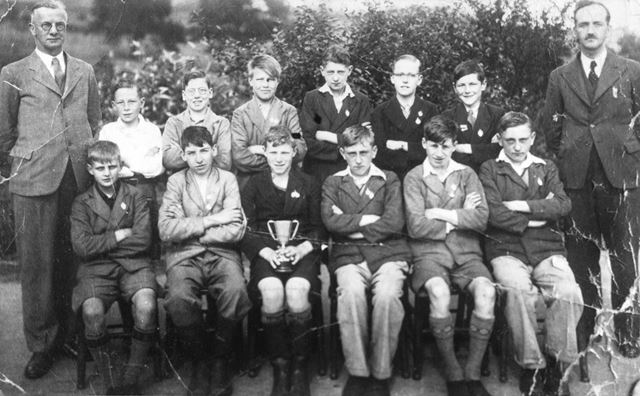 Buxworth School Winners of the Inter School Cricket Cup, Buxworth, 1938