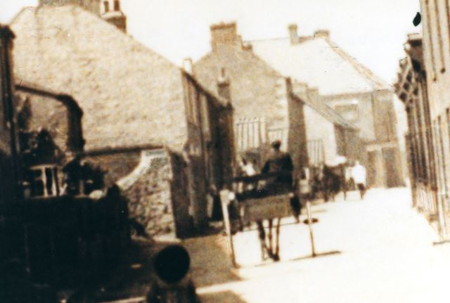 View up Welbeck Street to Co-Operative at top, Whitwell, c 1913