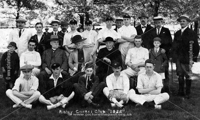 Risley Cricket Club, 1922