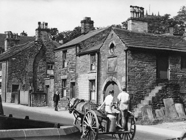 Milk Float, Market Street, Chapel-en-le-Frith, Derbyshire, c 1930's