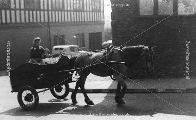 Milk Float, Market Street, Chapel-en-le-Frith, Derbyshire, c 1937