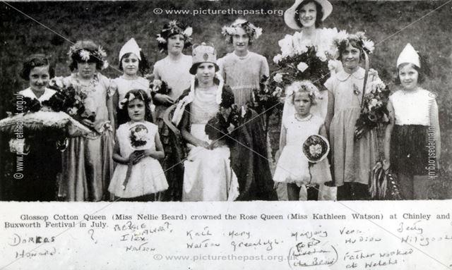 Rose Queen, Chinley, c 1930s