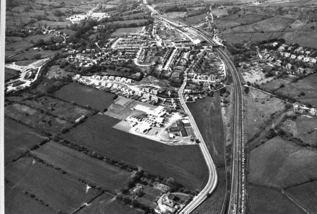 East to West Aerial View, Chinley, 1980