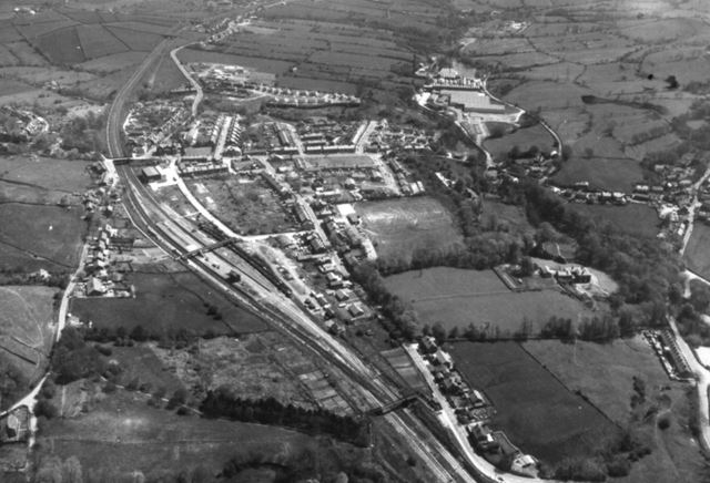 Aerial View From The West, Chinley, 1980