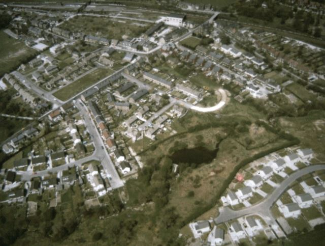 Aerial View, Chinley, c 1970