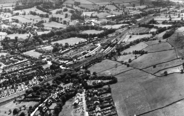 Aerial View, Chinley, 1963