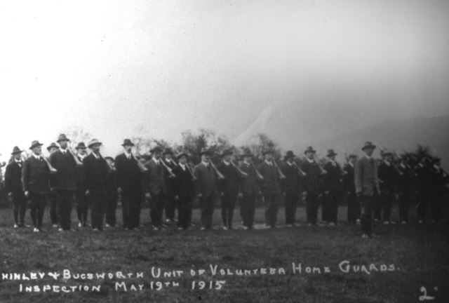 Chinley and Bugsworth Unit of Volunteer Home Guards, Inspection, 19th May 1915