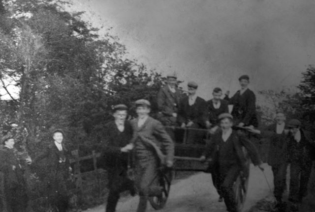 Chinley Lads Club, on the way to Edale, c 1910s