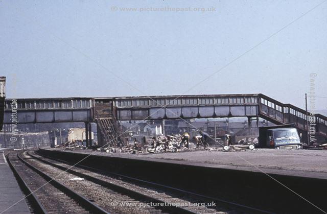 Demolition of Chinley Station, 1989