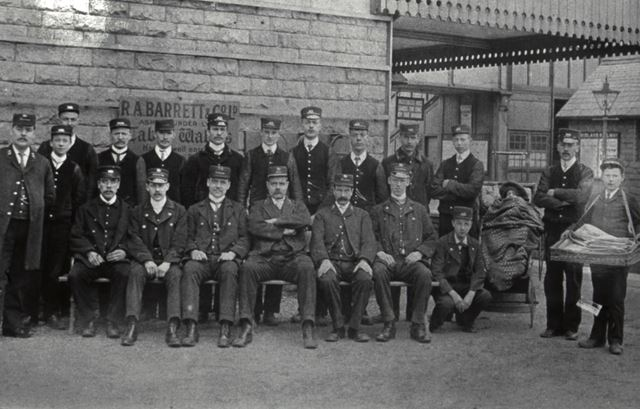 1st Station Staff at Chinley Station, c 1900s