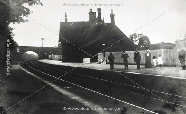 1st Chinley Station, Chinley, c 1890s