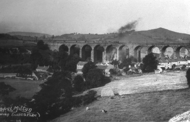 1st Viaducts from Bowden Head, New Smithy, Chinley, c 1900s