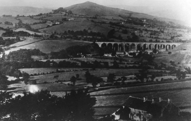 Viaducts from Bowden Head, New Smithy, Chinley, c 1900s