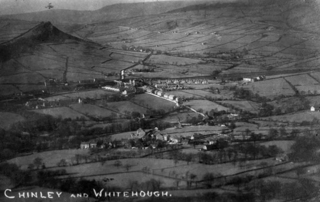View of Chinley and Whitehough, c 1907