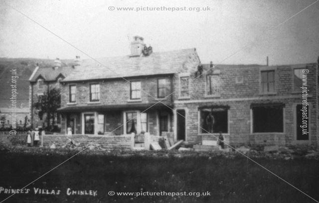 Princes' Villas, Princess Road, Chinley, c 1890s