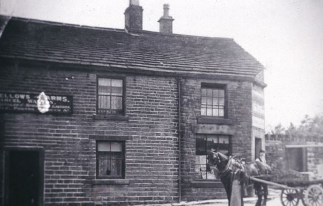 Mr Smith, Horse and Dray, Oddfellows Arms, Whitehough c 1890s