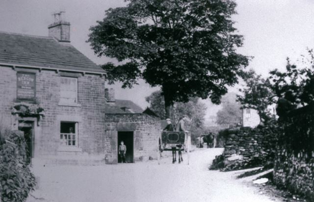 The Red Cow Inn, with Joe Jackson, Whitehough, c 1890s