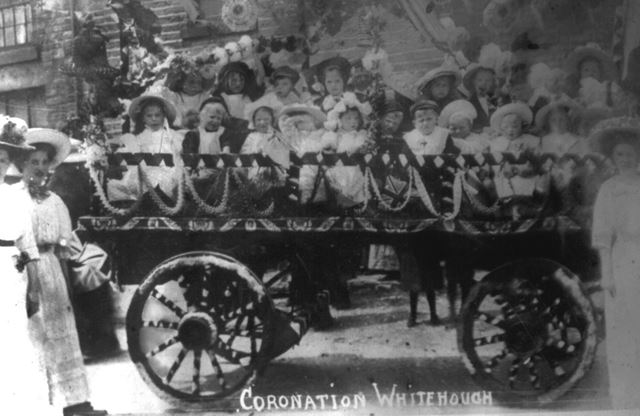 Coronation day at Whitehough, c 1900s