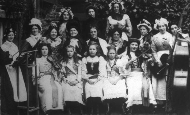 Sunday School Orchestra, Whitehough, c 1890s