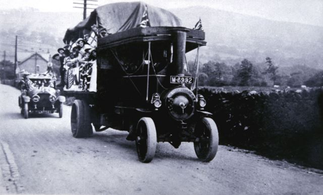 J J Hadfield's Transport, Whitehough, c 1900s