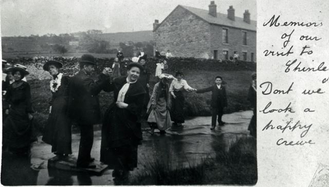 Forge Cottages and Brook, Whitehough, c 1910s