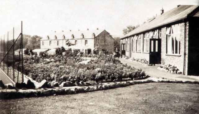 Forge Canteen and Gardens, Whitehough, c 1910s