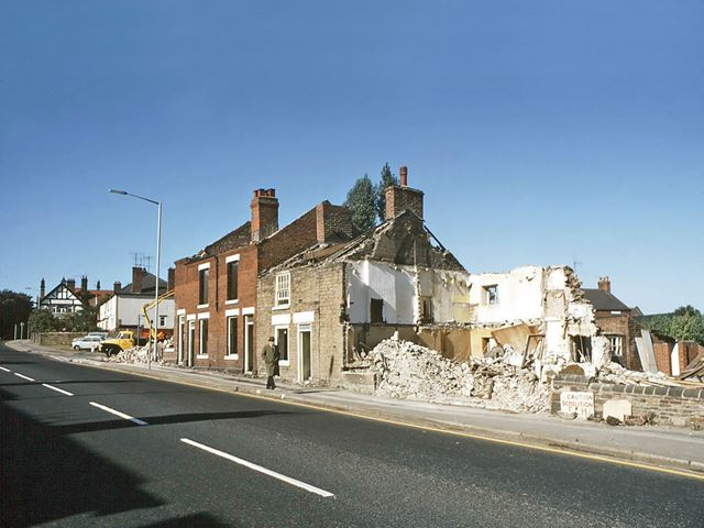 Demolition of Terraced Houses on Chatsworth Road / Storrs Road, Brampton, Chesterfield.