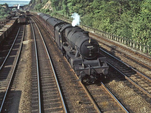 Local passenger train near Tapton Junction, Chesterfield, 1964