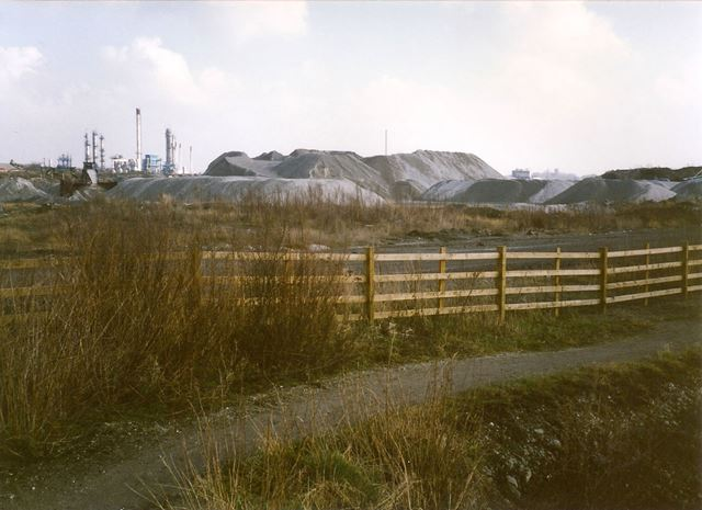 Gravel Heaps from Chesterfield Canal, towards Staveley and Chemical Works, 1994