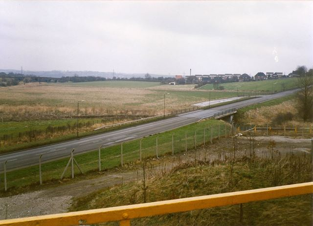 Hall Lane, Staveley Looking to Hartington, from Chemical Plant, 1994