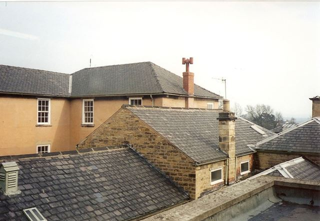 Whittington Hall Hospital - Rooftop View, Old Whittington, 1996