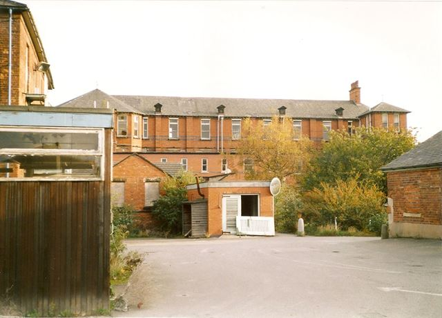 Rear of Scarsdale Hospital, Newbold Road, Chesterfield, late 1990s